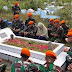 Satgas Pamrahwan Yonko 462 Paskhas Zarah ke Makam  Almarhum Sertu Irianto Sili