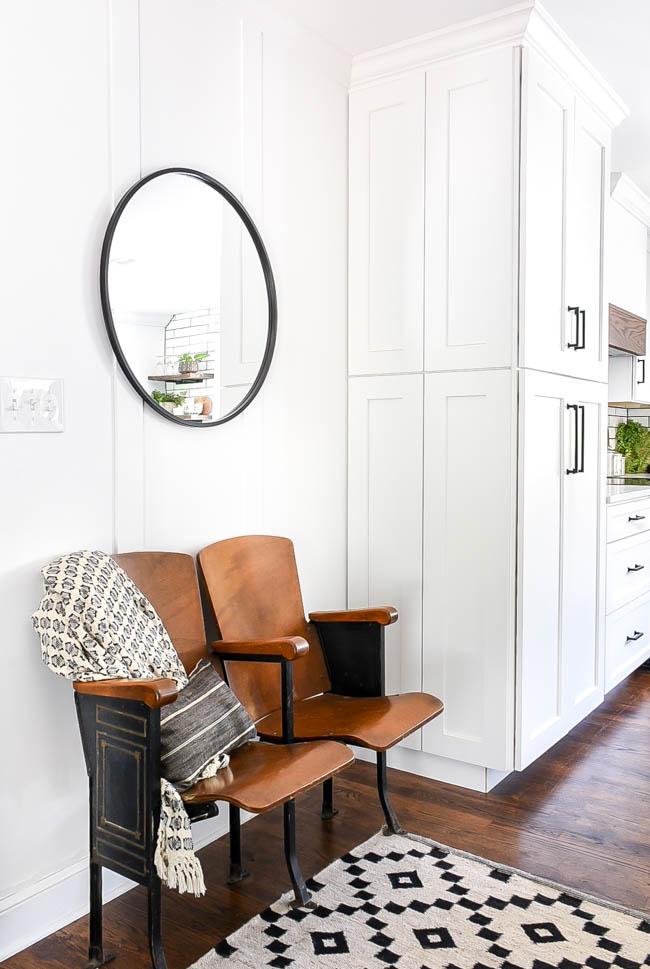 Large white kitchen pantry