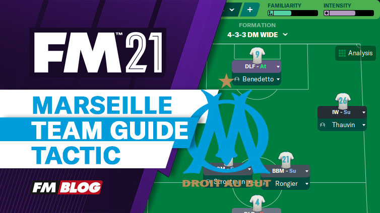 Football Manager 2021 Marseille Team Guide Tactic FM21