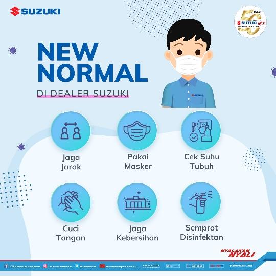Maksimalkan Pelayanan, Suzuki Terapkan Protokol Kesehatan di Jaringan Diler Sepeda Motor