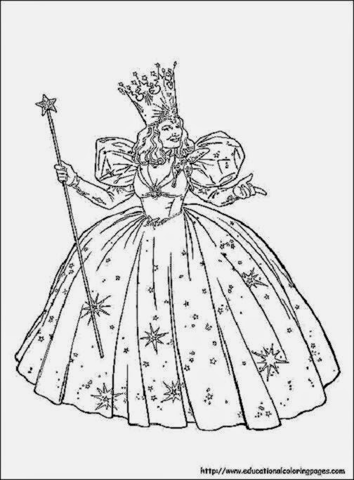 Wizard of oz coloring sheets free coloring sheet for Printable wizard of oz coloring pages