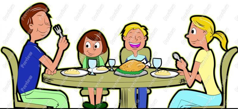 Gambar Dipersiapkan Liburan Bersama Keluarga Gambar Animasi Makan