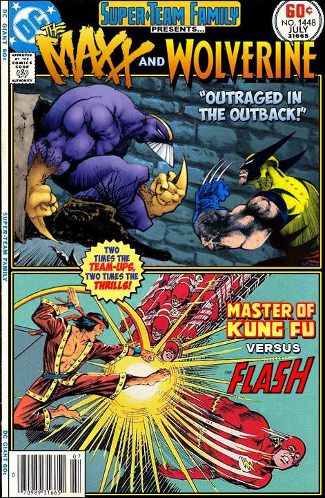 Super Team Family The Lost Issues The Maxx Wolverine Shang
