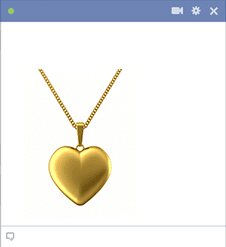 Golden Heart Pendant Image