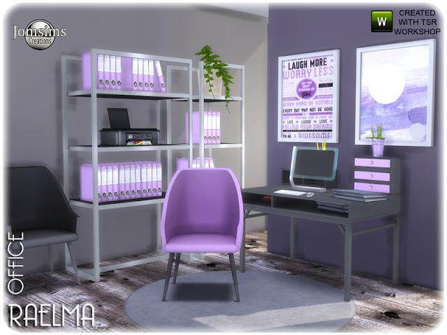 Raelma office Раэльма офис The Sims 4 мягкие цвета. Дерево. И милые маленькие предметы украшений. 11 новых объектов для этого офиса с мягкими линиями. деко принтер. офисный стул. офисный стул цвет2. офис. Разные файлы деко. картины. декоративные карандаши в 2 цветах. Автор: jomsims