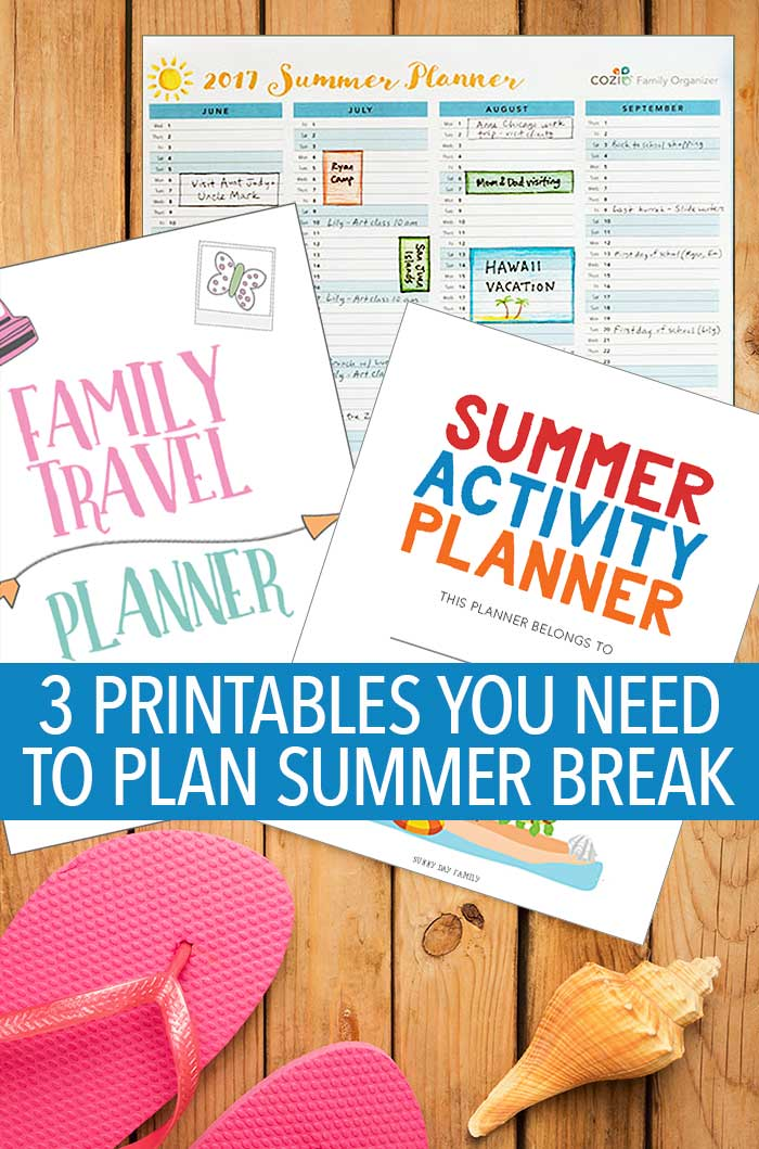 Ready to plan an awesome summer break? You need these printables! With everything from your summer at a glance, to kids activities, to your family vacation, you can plan it all with these awesome printables. It's everything a mom needs to get organized for summer!