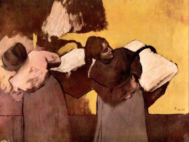 Эдгар Дега - Прачки, несущие бельё (1876-1878)