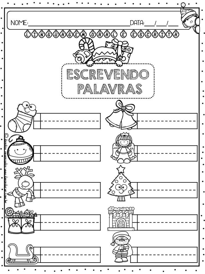 Alfabetizacao E Letramento Atividades Natal