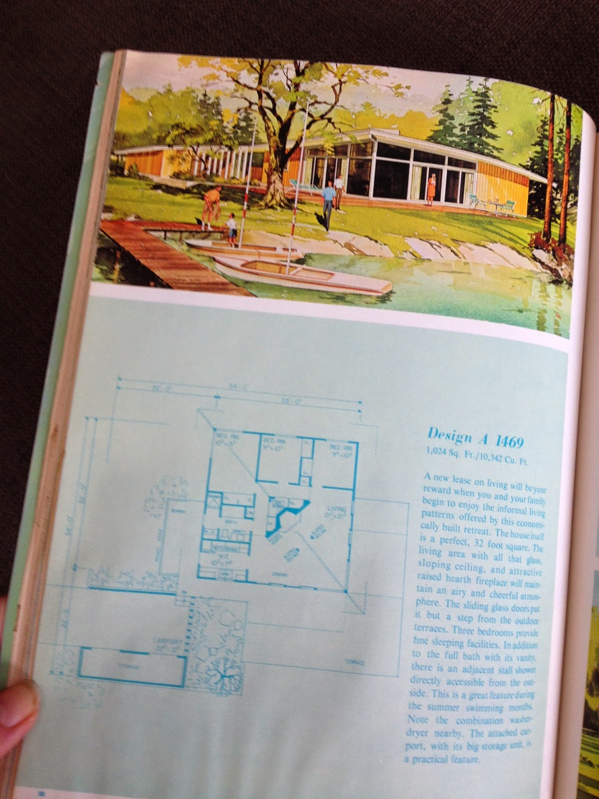 mid-century vacation home plan