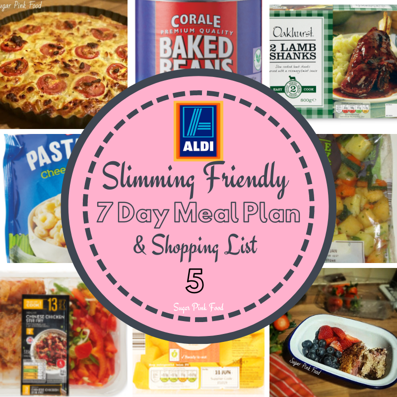 7 Day Aldi Slimming Friendly Healthy Meal Plan Feed