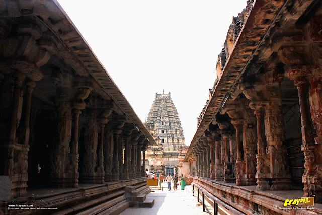 A view of entrance tower of Virupaksha Temple complex