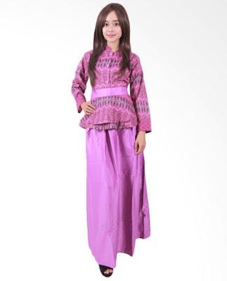 Model Gamis Batik Orang Gemuk modis
