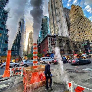 Steam on East 43rd Street