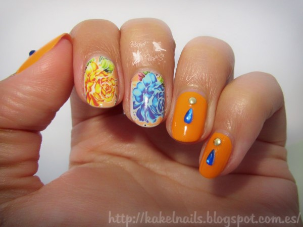 Orange_nailart