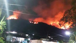 Perbukitan di Sibolga Kembali Terbakar,  Petugas Kesulitan Menuju Lokasi
