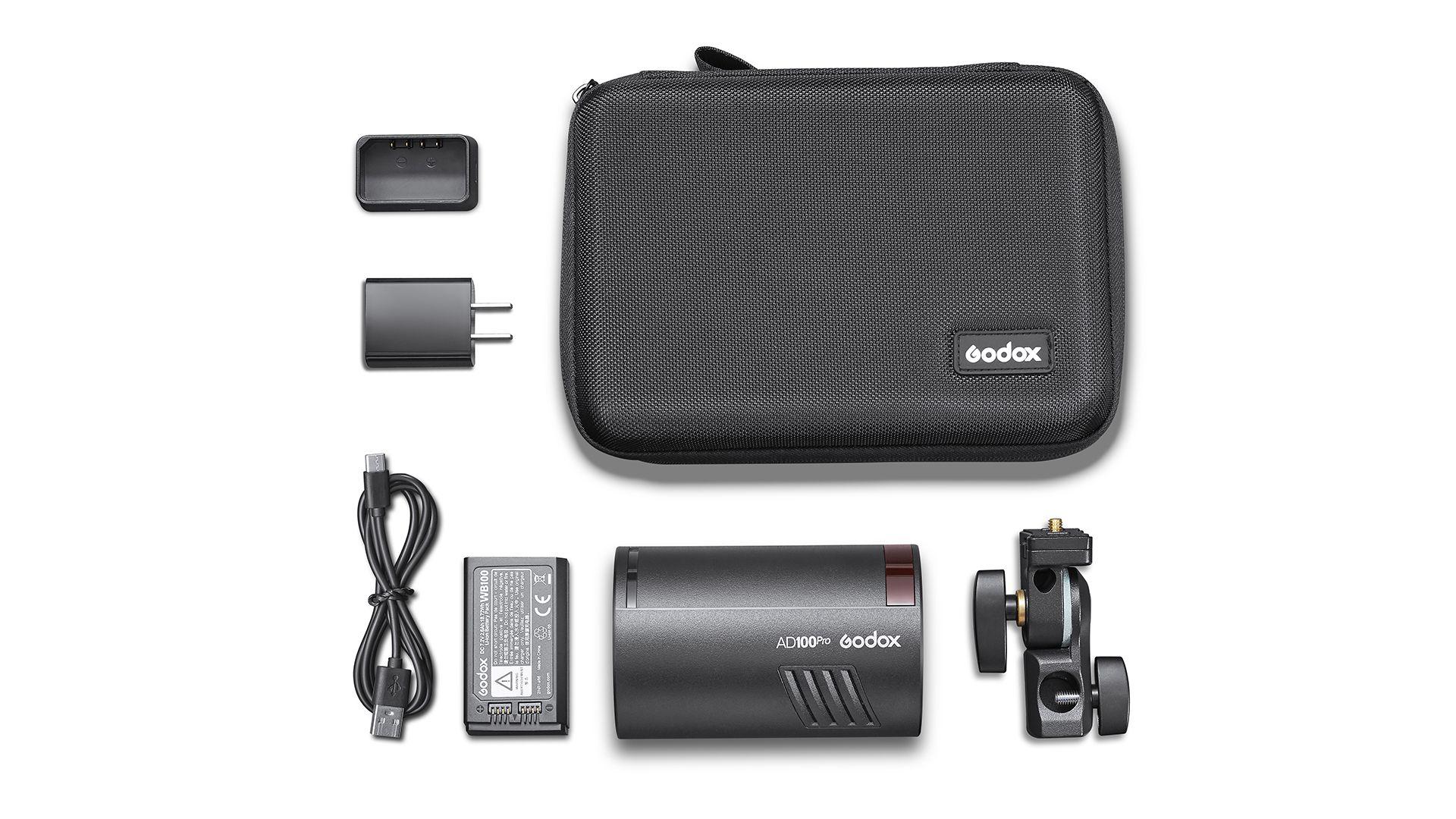 Комплект поставки Godox AD100 Pro