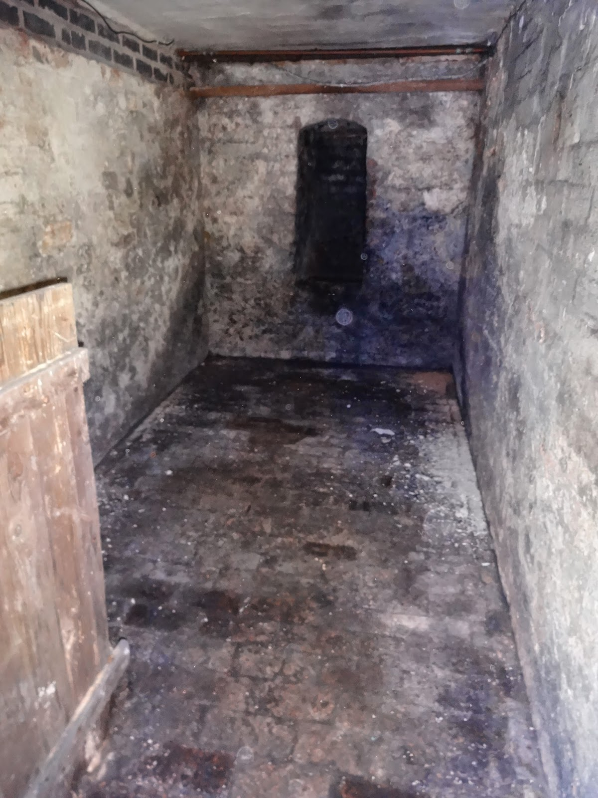 coal room with coal chute in cellar