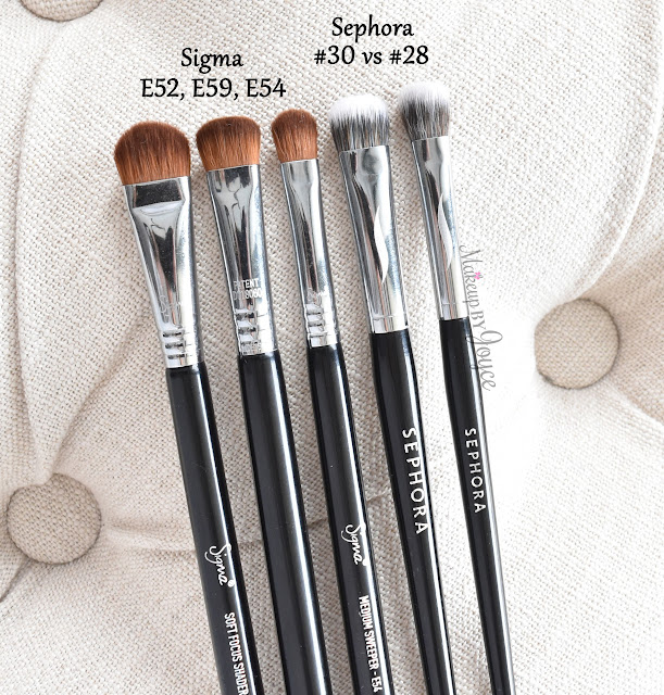 Sigma E52 E59 E54 Brush Review Dupe Comparison