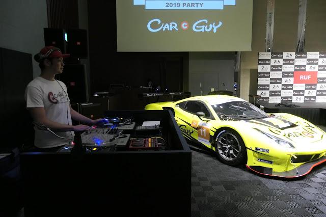 DJ Y∀SU with Carguy Racing car @  RUF & CARGUY ル・マン24、ショー、展示会、イベント、交流会