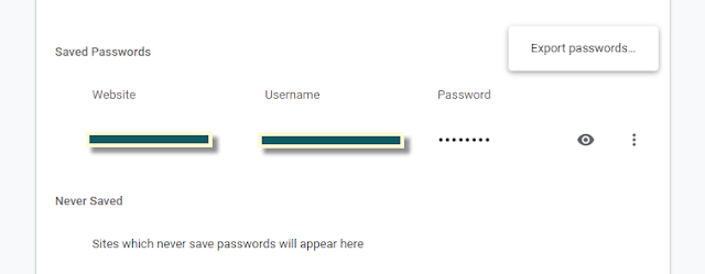 export passwords