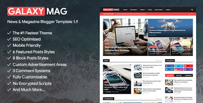 GalaxyMag - Responsive News & Magazine Blogger Template Free Download Full Version