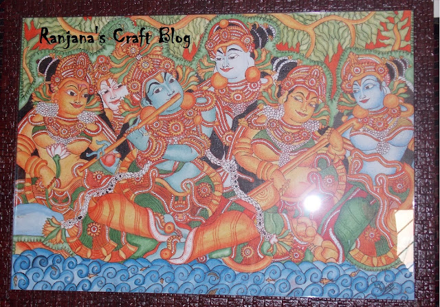 Kerala Mural on canvas