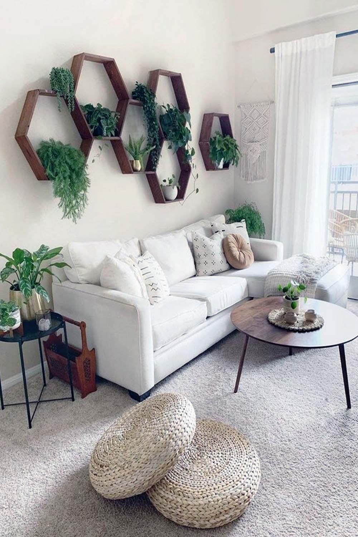 modern farmhouse glam living room