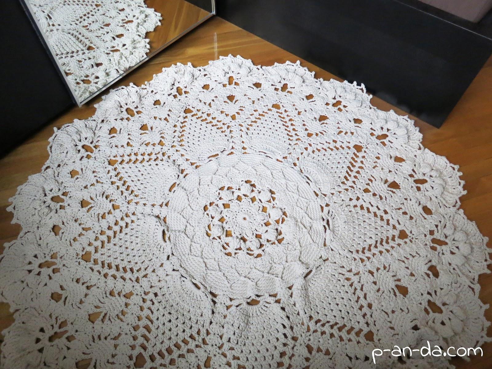 Схемы по вязанию ковров из шнура крючком