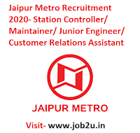 Jaipur Metro Recruitment 2020, Station Controller