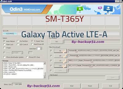 سوفت وير هاتف Galaxy Tab Active LTE-A موديل SM-T365Y روم الاصلاح 4 ملفات تحميل مباشر