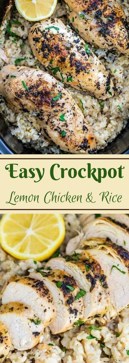 Crockpot Chicken and Rice #dinner #chicken #rice #healthyrecipes #easy