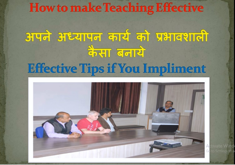 How to make Effective Teaching   Implement these Teaching Tips