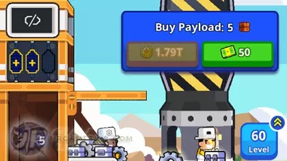 Rocket Star - Idle Space Factory: Buying Payloads