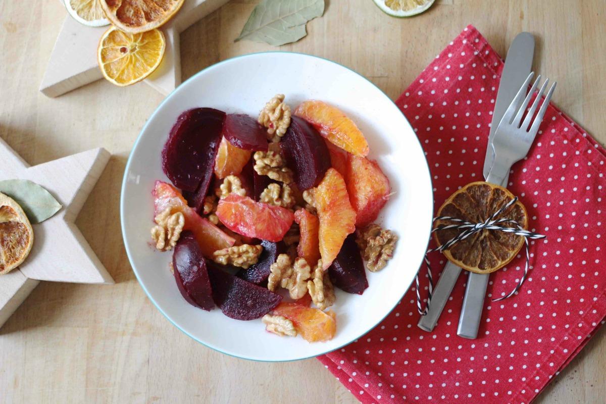Winter Salat mit Roten Rüben