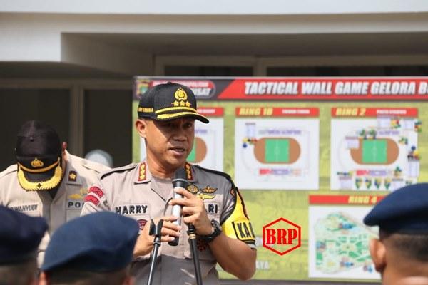 Polres Jakpus Gelar Apel Pengamanan Sepak Bola Persija VS Kalteng Putra