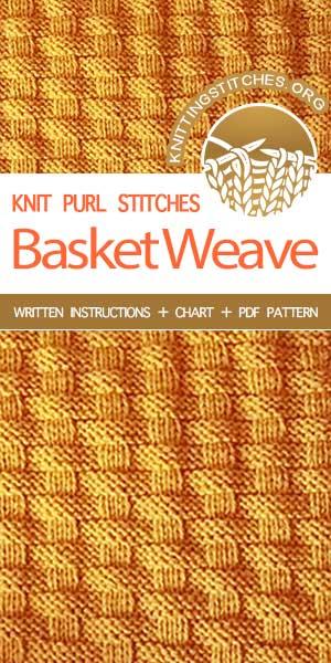 KnittingStitches.org -- Knitting Patterns Free. Easy to knit Basketweave Stitch. #knit #knittingpattern #KnittingStitches