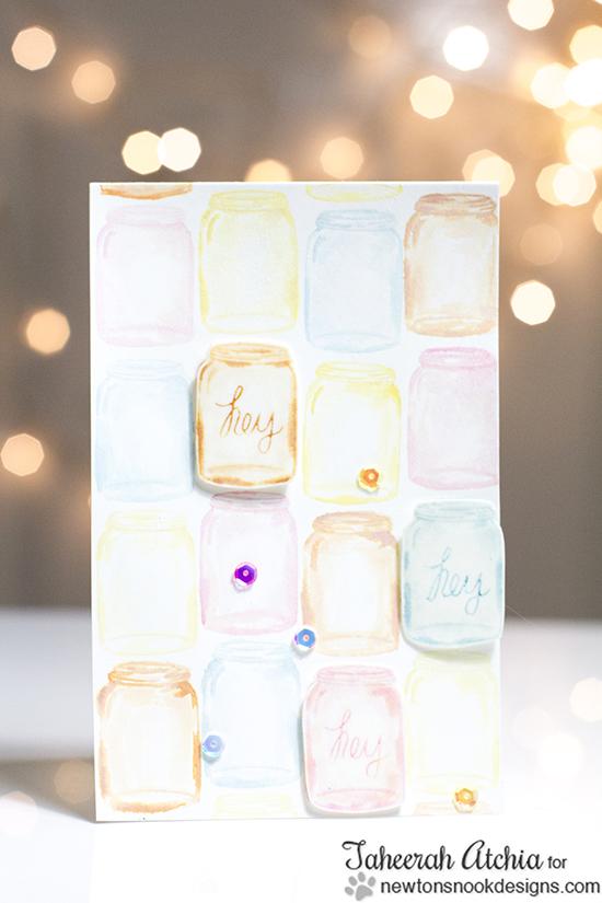 Mason Jar Card by Taheera Atchia for Newton's Nook Designs | Versatile Vases