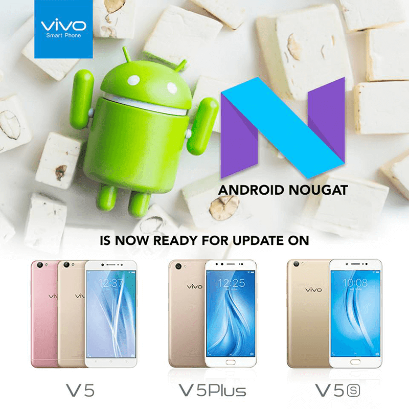 Vivo announces Nougat update for V5 Plus and V5s!