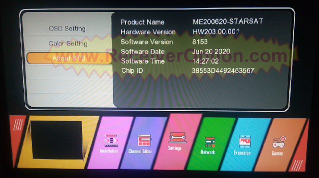 GX6605S STARSAT PRO U38 SOFTWARE NEW UPDATE 20 JUNE 2020