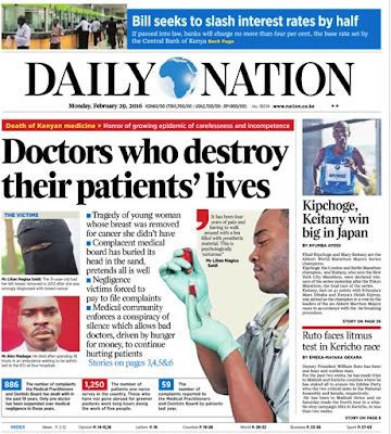 29th February: Read Headlines Across Top Kenyan Newspapers!