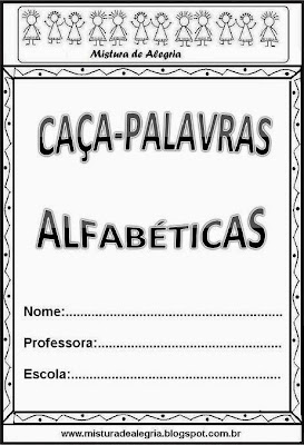 Caça-palavras alfabéticas