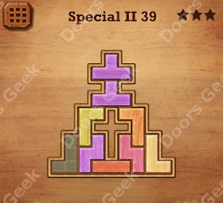 Cheats, Solutions, Walkthrough for Wood Block Puzzle Special II Level 39