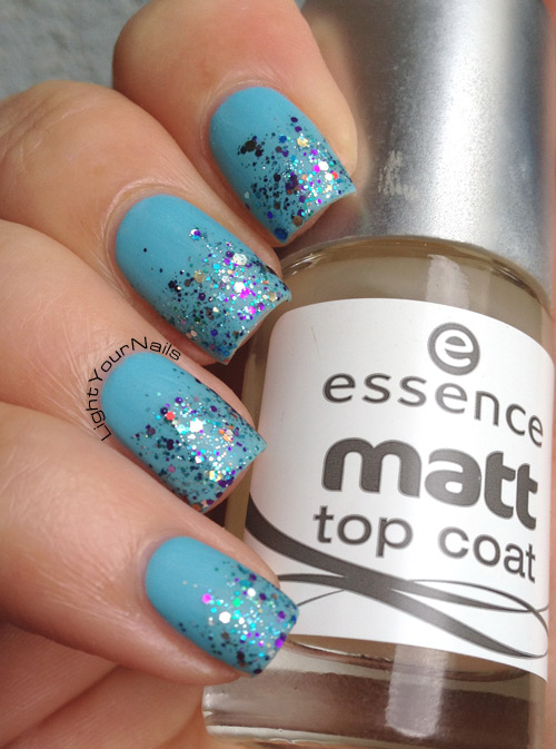 Shimmer Jenny gradient over Mia Makeup 52 Azure + matte top coat
