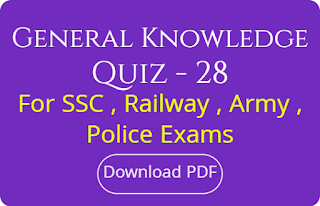 General Knowledge Quiz - 28