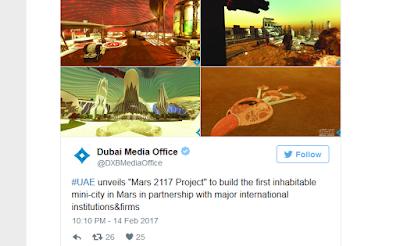 Benarkah 2117 Uni Emirat Arab Rencanakan Bangun Kota di Planet Mars ?