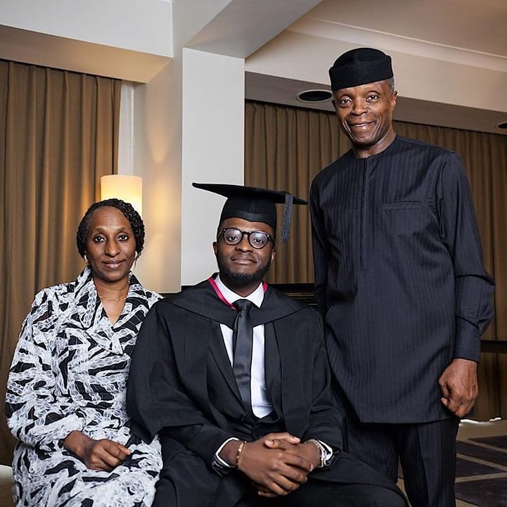 VP Yemi Osinbajo's son graduates from UK University - See photos