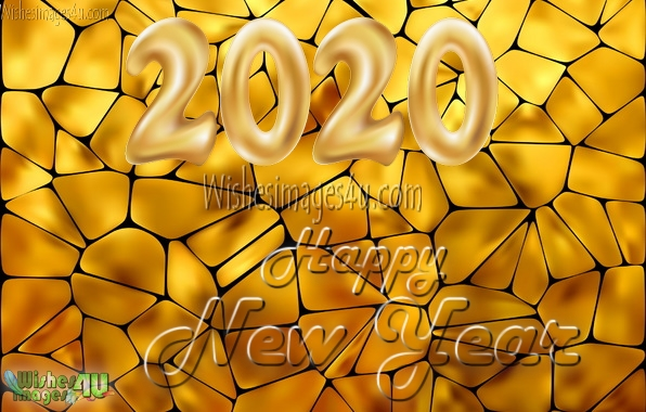 Happy New Year 2020 Golden Photo Greetings Download Free