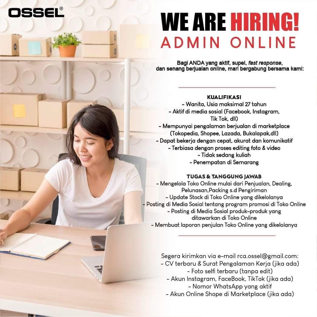 Lowongan Kerja Admin Online di Mesin Ossel Semarang