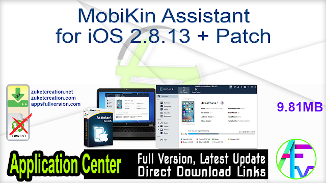 MobiKin Assistant for iOS 2.8.13 + Patch
