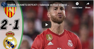 Valencia vs Real Madrid 2-1  Goals and highlight
